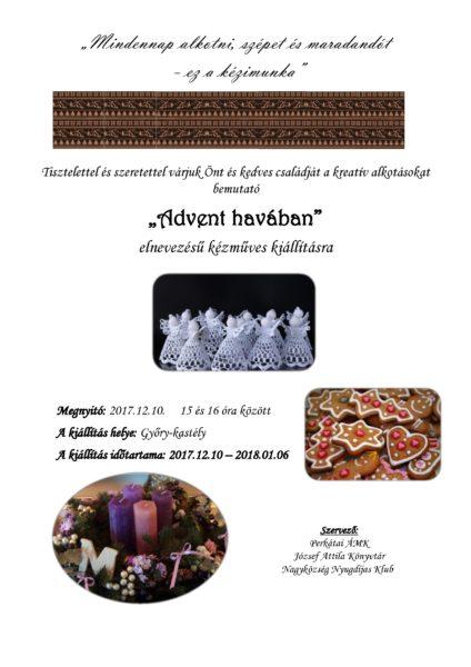 Adventi kézműves kiállítás meghívó