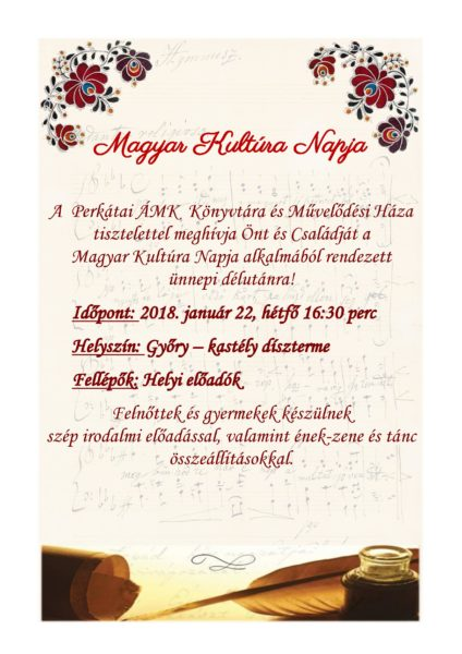 Magyar Kultúra Napja plakát végleges