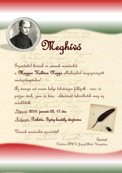 Magyar Kultúra Napja plakát(2)