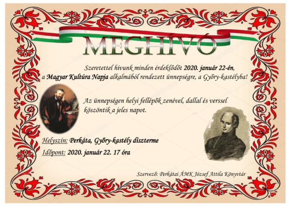 Magyar Kultúra Napja meghívó 2020